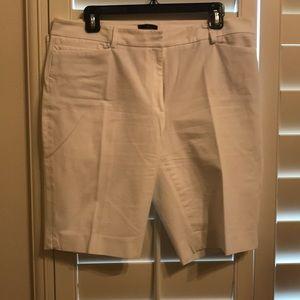 White House Black Market White Bermuda Shorts